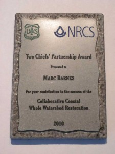 Marc Barnes' Two Chiefs' Partnership award.